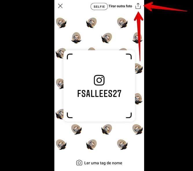 tag de nome no instagram compartilhar