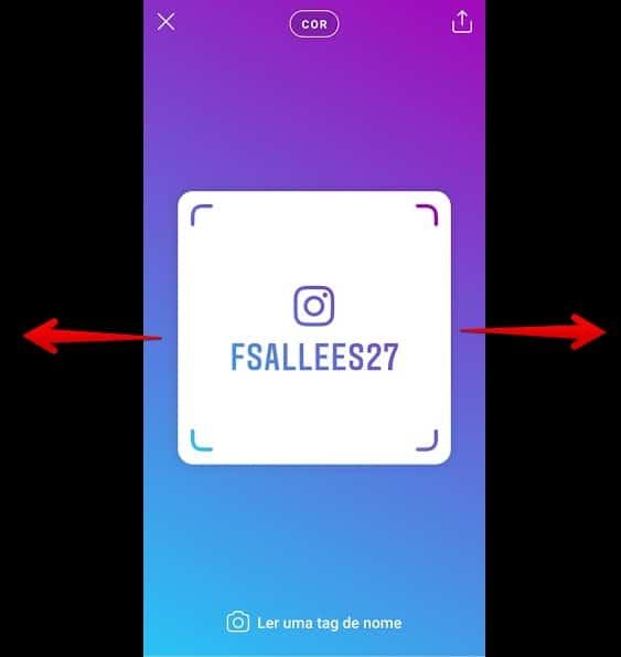 tag de nome no instagram deslizarcor