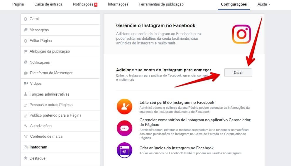 ligar-facebook-instagram-entrar