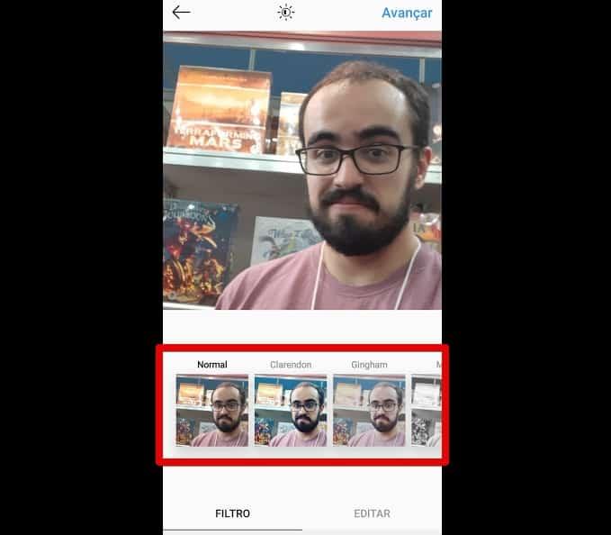 como criar instagram escolherfiltro