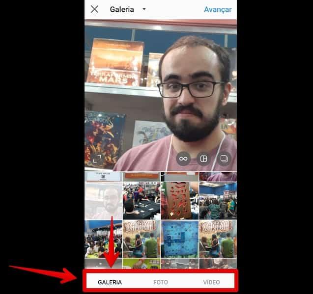 como criar instagram galeria