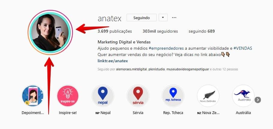 como criar instagram perfil