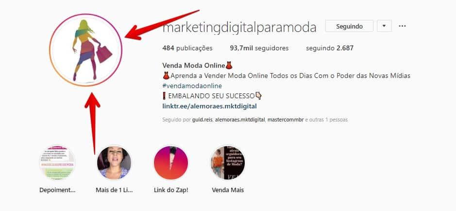 como criar instagram perfilnegocio