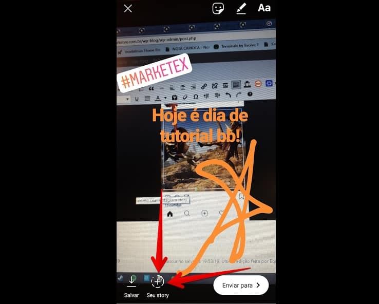 como criar instagram publicarstory