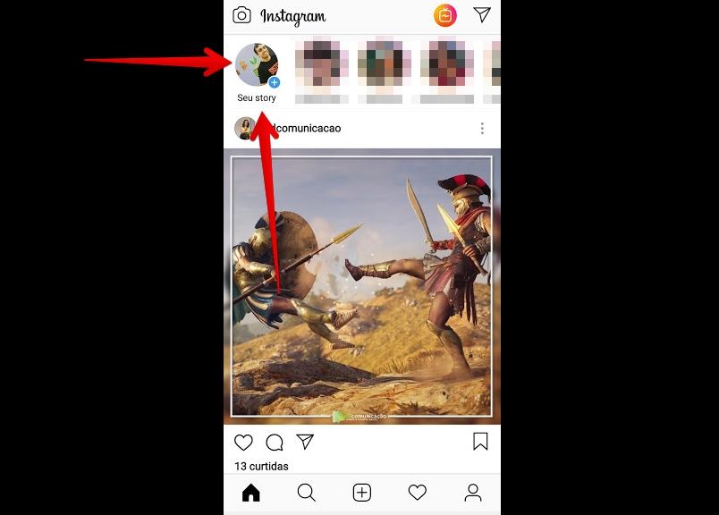 como criar instagram story