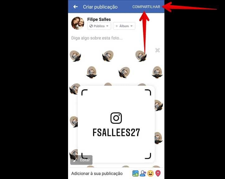 tag de nome no instagram compartilharfacefim