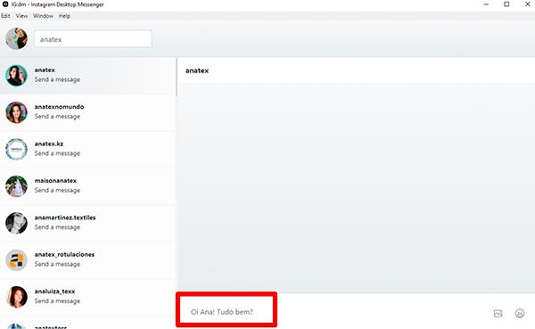 como ver mensagens do instagram no pc windows 7