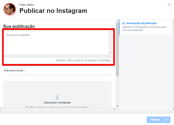 como-programar-posts-direto-do-instagram-legenda