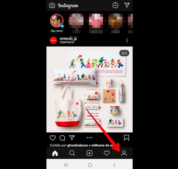 Inicio do tutorial para criar destaque Instagram